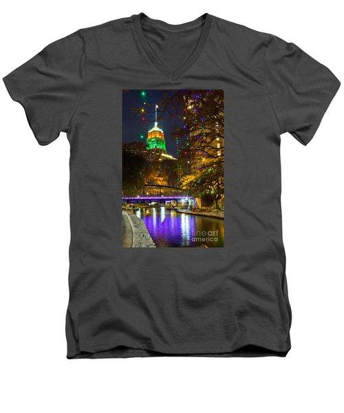 Tower Life Riverwalk Christmas Men's V-Neck T-Shirt