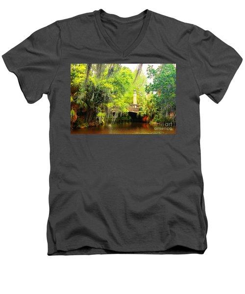 Tower Light Bridge Men's V-Neck T-Shirt