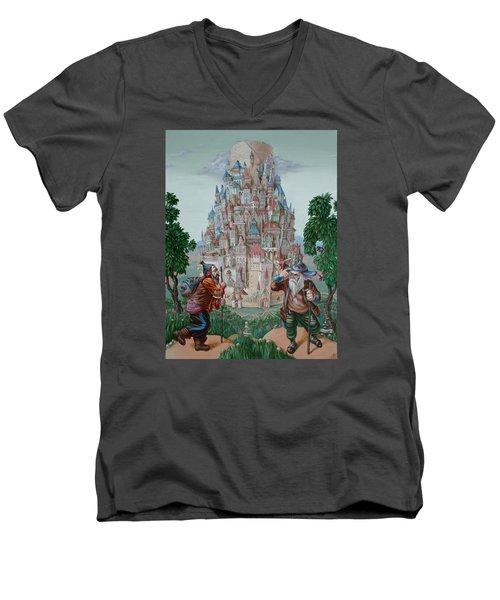 Tower Of Babel Men's V-Neck T-Shirt