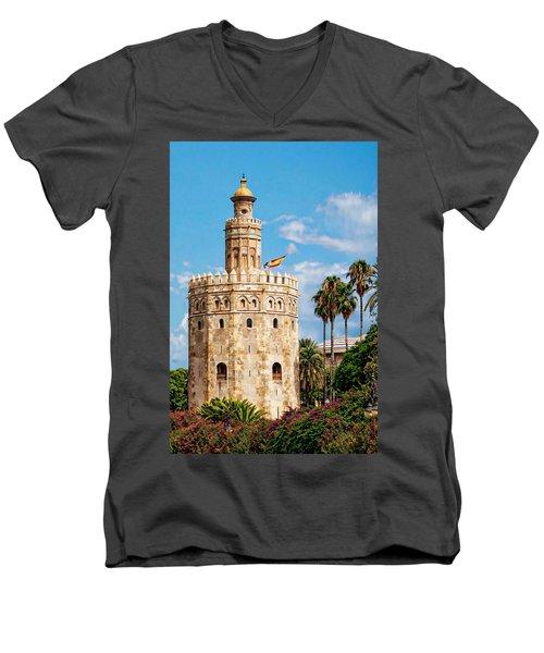 Tower Of Gold Men's V-Neck T-Shirt