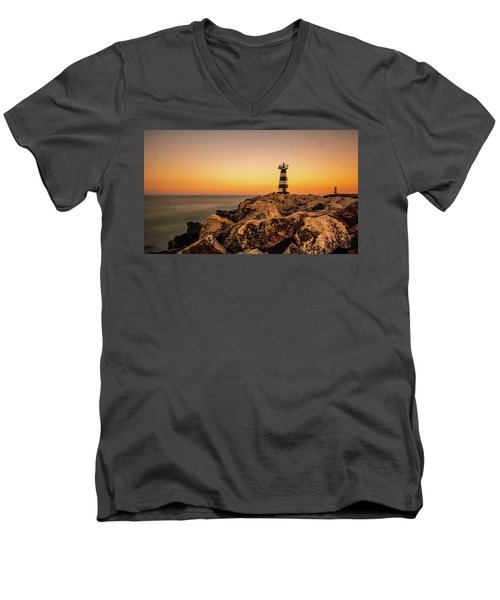 Men's V-Neck T-Shirt featuring the photograph Tower Of Light by Nick Bywater