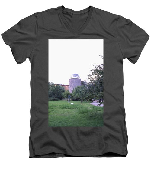 Tower Of The Future, Statue And Lying Woman Men's V-Neck T-Shirt