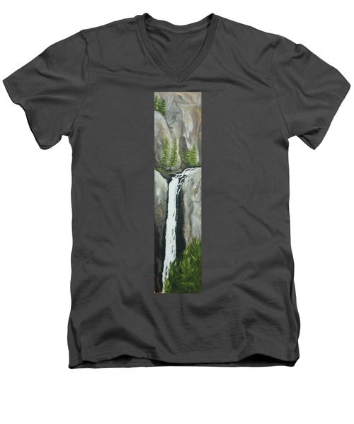 Towering Falls Men's V-Neck T-Shirt