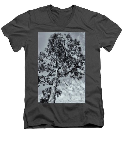 Men's V-Neck T-Shirt featuring the photograph Towering by Linda Lees