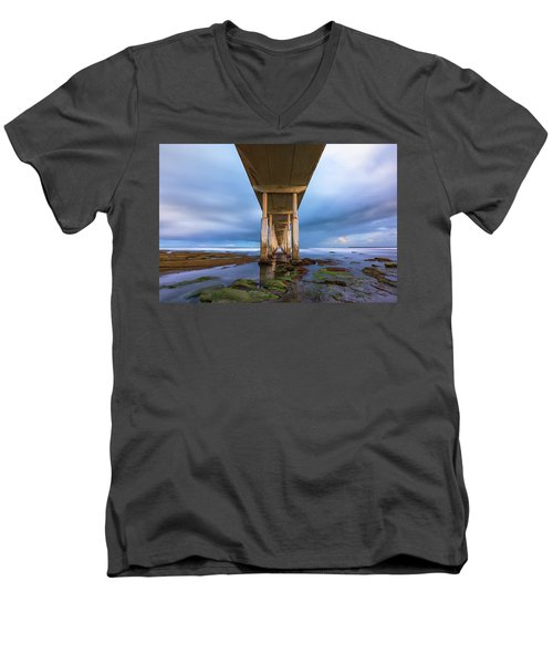 Towers Above Men's V-Neck T-Shirt by Joseph S Giacalone