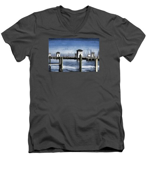 Towers And Masts Men's V-Neck T-Shirt by Roberta Byram