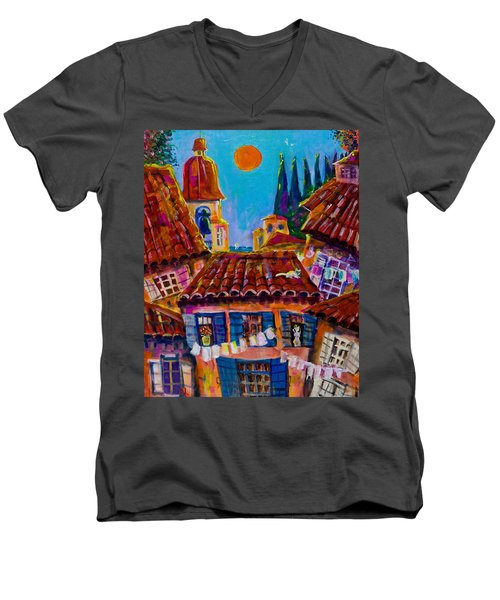 Town By The Sea Men's V-Neck T-Shirt