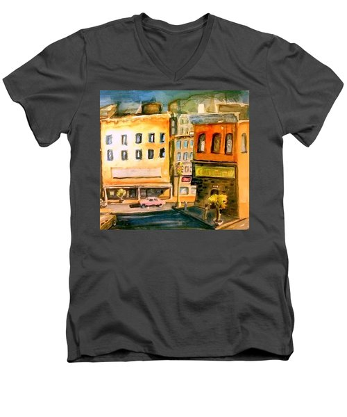 Town Men's V-Neck T-Shirt