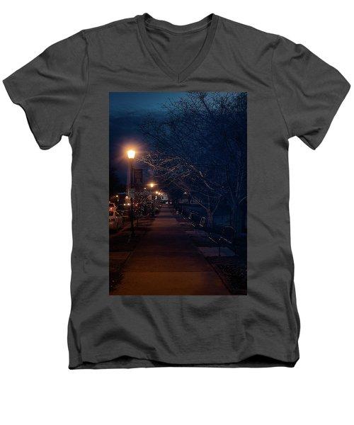 Town Street A Night Men's V-Neck T-Shirt