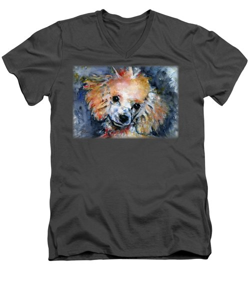 Toy Poodle Shirt Men's V-Neck T-Shirt