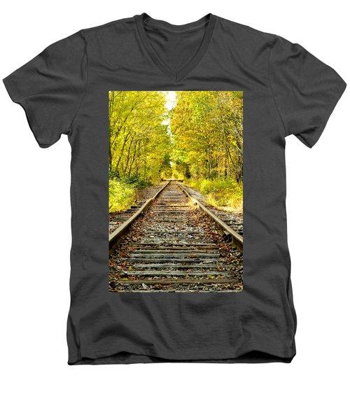 Track To Nowhere Men's V-Neck T-Shirt