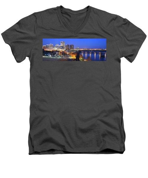 Tracks Into The City Wide Angle Men's V-Neck T-Shirt