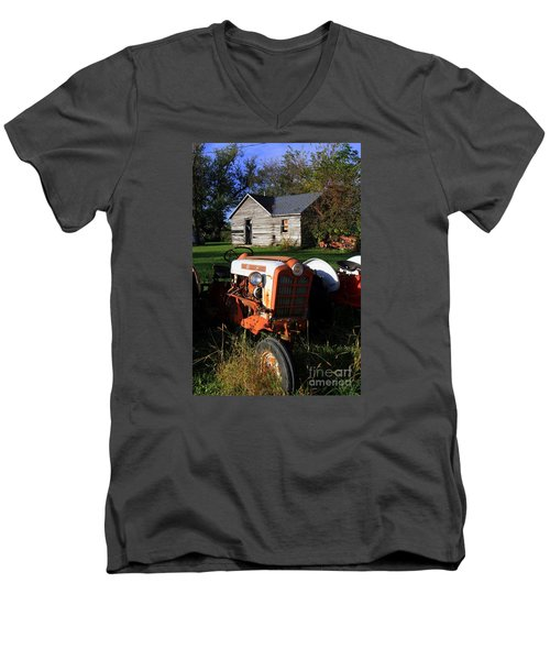 Tractor And Shed Men's V-Neck T-Shirt