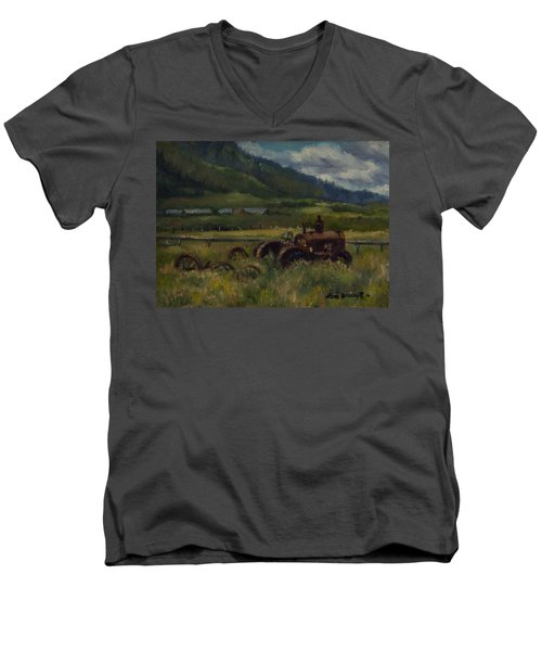 Tractor From Swan Valley Men's V-Neck T-Shirt