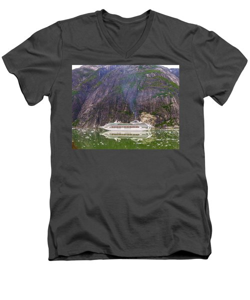 Men's V-Neck T-Shirt featuring the photograph Tracy Arm Fjord by Jim Mathis
