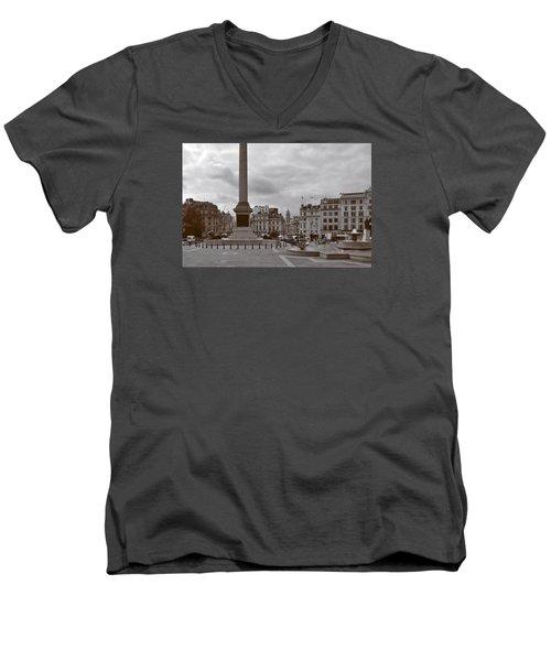 Trafalgar Square Sunday Morning Men's V-Neck T-Shirt by Nop Briex