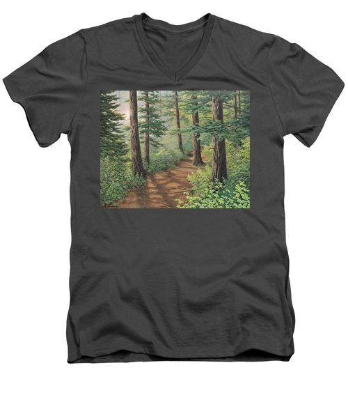 Trail Of Green Men's V-Neck T-Shirt