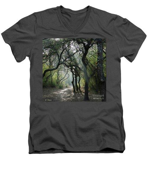 Trail Of Light Men's V-Neck T-Shirt