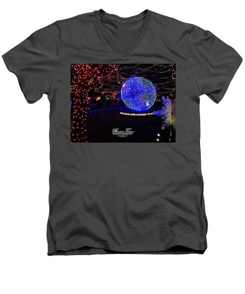 Trail Of Lights World #7359 Men's V-Neck T-Shirt