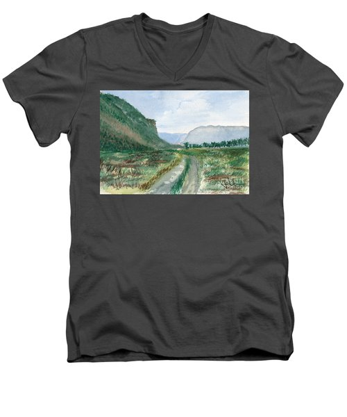 Trail To Canada Men's V-Neck T-Shirt