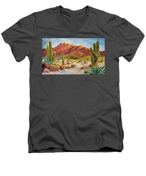 Trail To The San Tans Men's V-Neck T-Shirt