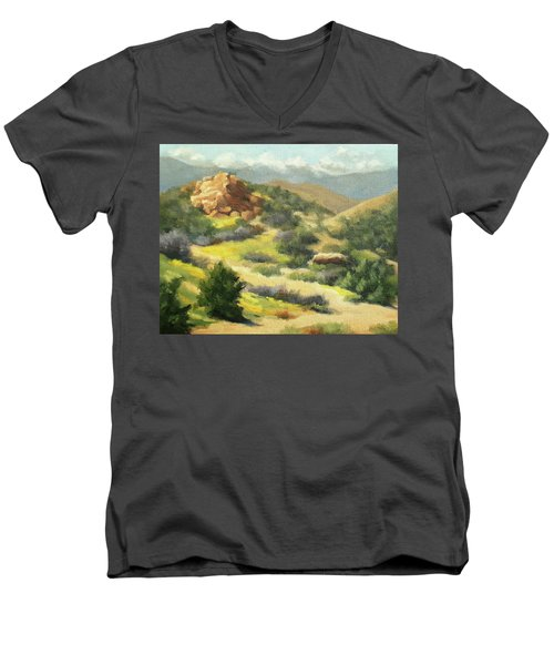 Trails Of Vasquez Canyon Men's V-Neck T-Shirt