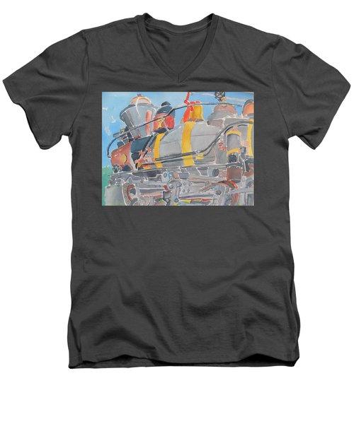 Train Engine Men's V-Neck T-Shirt