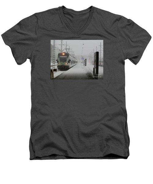 Train In Helsinki Men's V-Neck T-Shirt