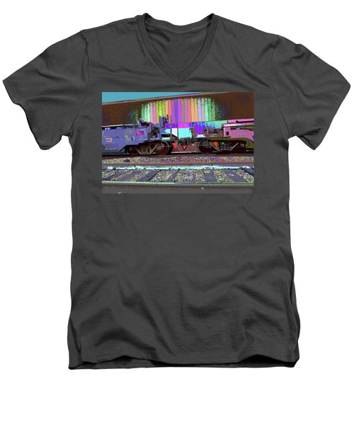 Train Parked Men's V-Neck T-Shirt