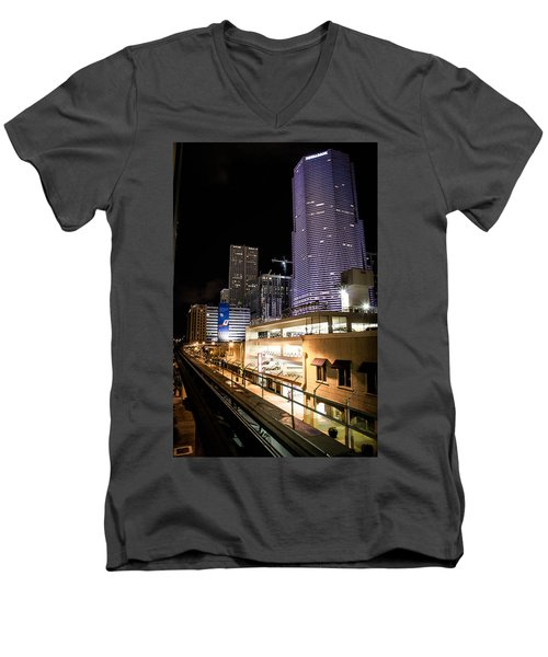 Train Station Men's V-Neck T-Shirt