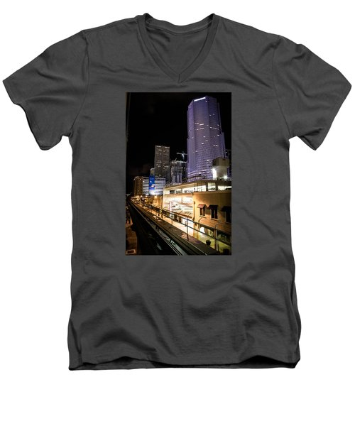 Train Station Men's V-Neck T-Shirt
