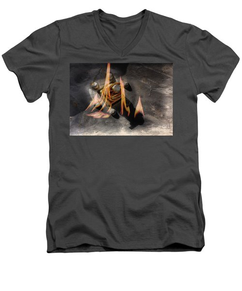 Train Wreck Men's V-Neck T-Shirt