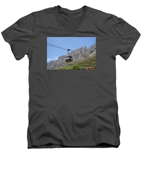 Tramway To Cable Mountain Men's V-Neck T-Shirt by Bev Conover
