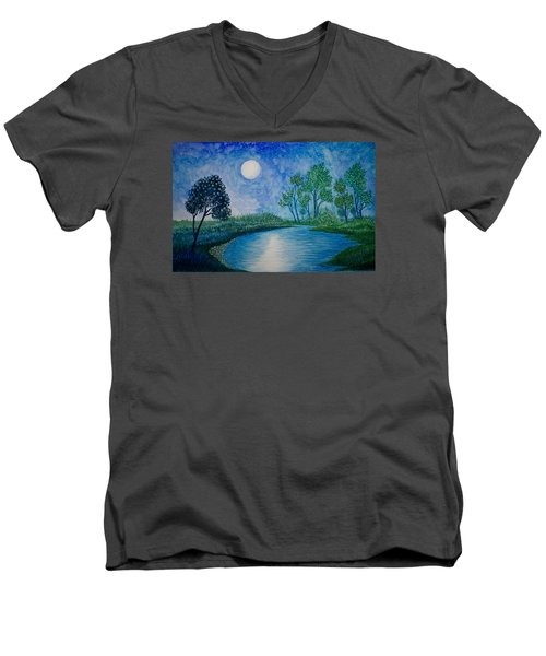Tranquil Men's V-Neck T-Shirt by Adria Trail
