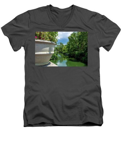 Tranquil Garden Men's V-Neck T-Shirt