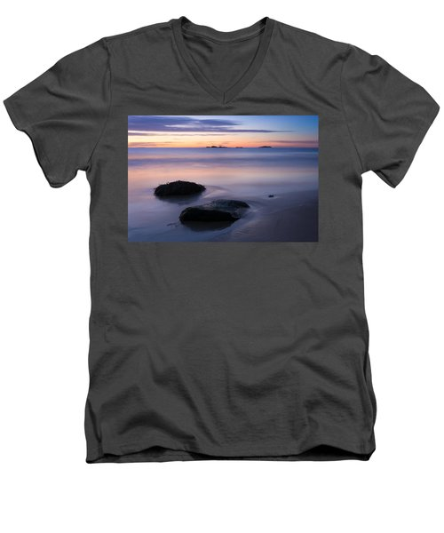 Tranquil Morning Singing Beach Men's V-Neck T-Shirt