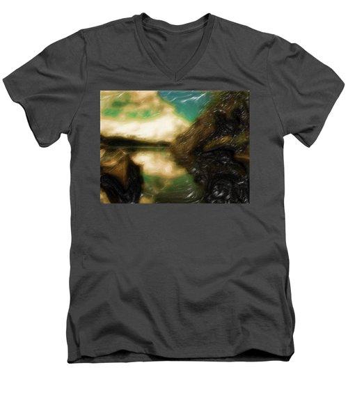 Tranquil Nature Awaits Men's V-Neck T-Shirt