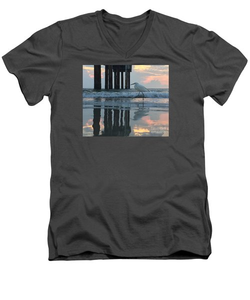 Tranquil Reflections Men's V-Neck T-Shirt by LeeAnn Kendall
