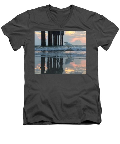 Tranquil Reflections Men's V-Neck T-Shirt