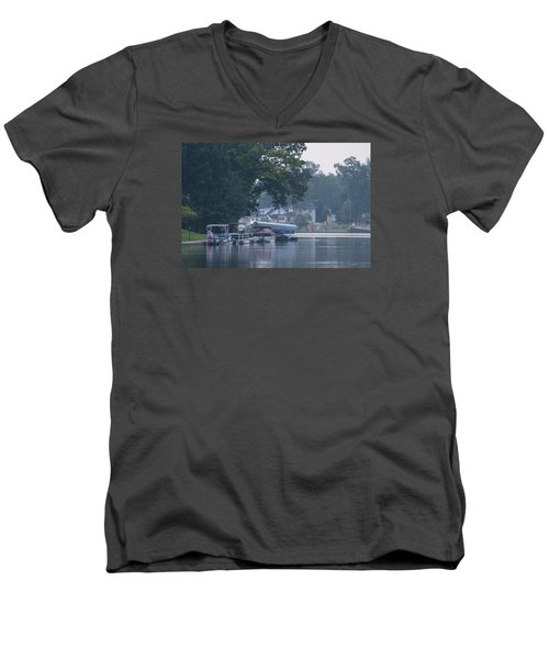 Tranquil River Men's V-Neck T-Shirt