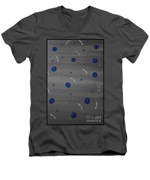 Tranquil Acrylic Abstract Men's V-Neck T-Shirt