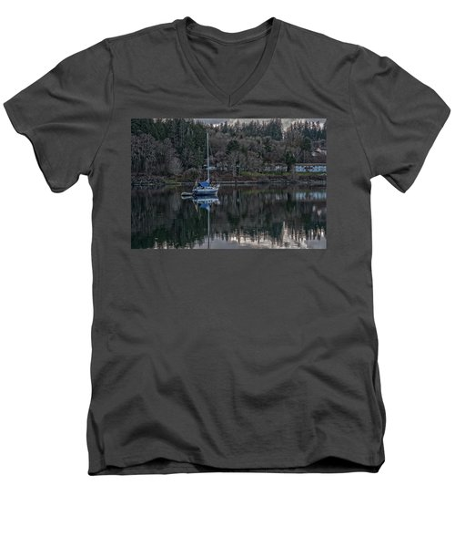 Men's V-Neck T-Shirt featuring the photograph Tranquility 9 by Timothy Latta