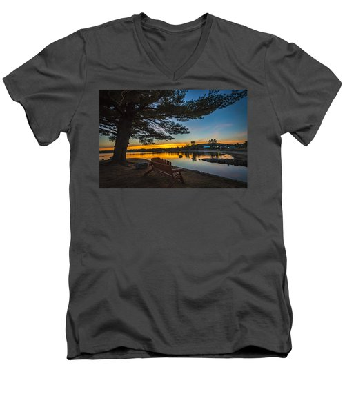 Tranquility At Sunset Men's V-Neck T-Shirt