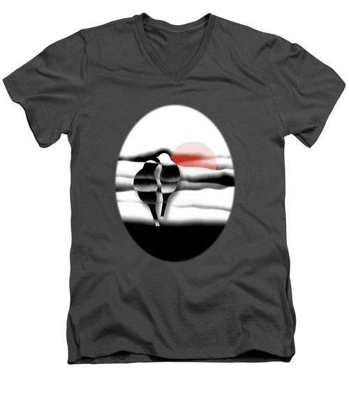 Tranquility Men's V-Neck T-Shirt by AugenWerk Susann Serfezi