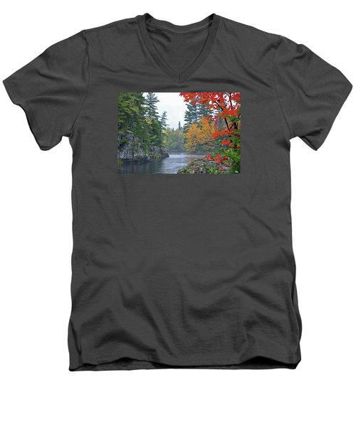 Autumn Tranquility Men's V-Neck T-Shirt