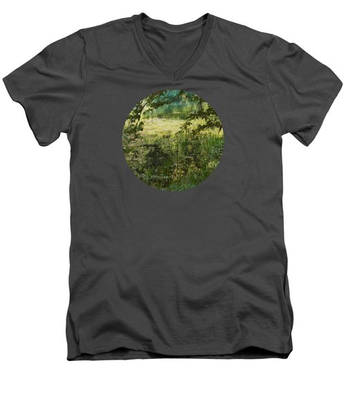 Tranquility Men's V-Neck T-Shirt by Mary Wolf