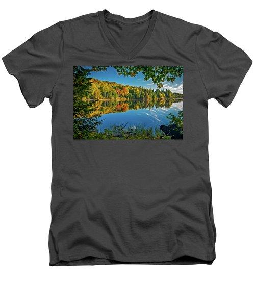 Tranquillity  Men's V-Neck T-Shirt