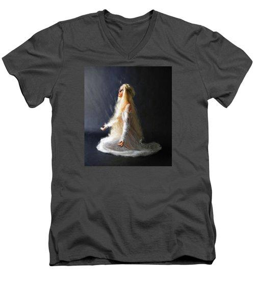 Transcendence One Men's V-Neck T-Shirt by Dave Luebbert