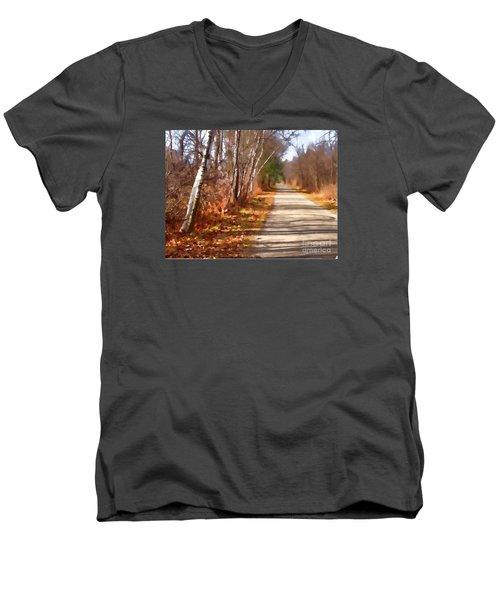 Transformed Men's V-Neck T-Shirt by Betsy Zimmerli