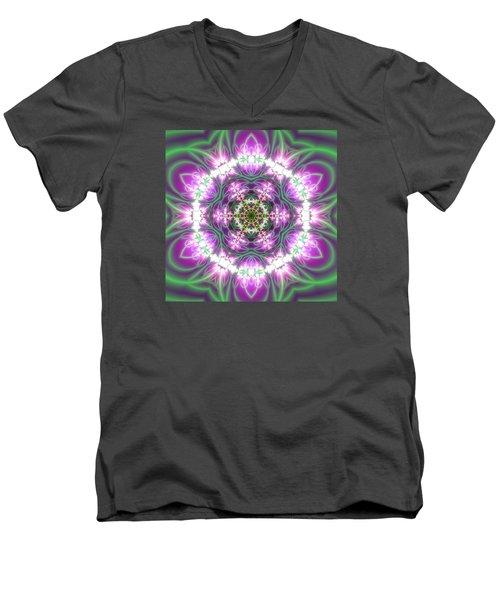 Transition Flower 6 Beats 3 Men's V-Neck T-Shirt